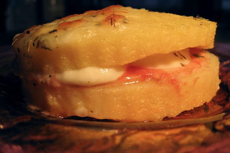 Croque polenta façon pizza