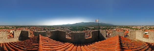 Vue depuis le clocher du vieil Argelès