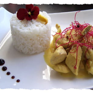poulet à la cardamome et main de bouddha
