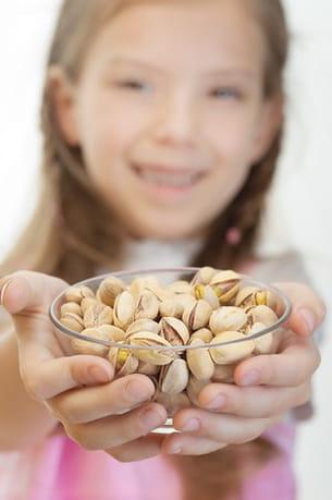 les pistaches sont très riches en calcium mais attention au sel.