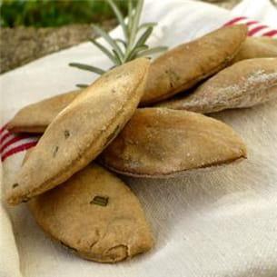 crackers à l'avoine et aux herbes aromatiques.