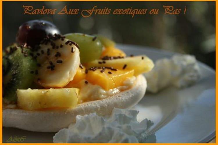 Pavlova vanillé aux fruits exotiques