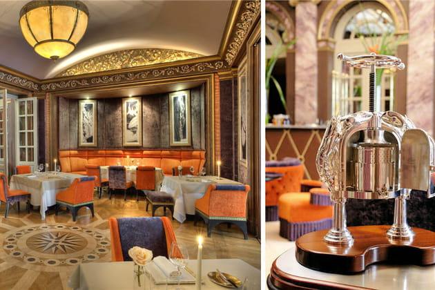 """Le restaurant """"Pressoir d'Argent"""", étoiléauGuideMichelin"""
