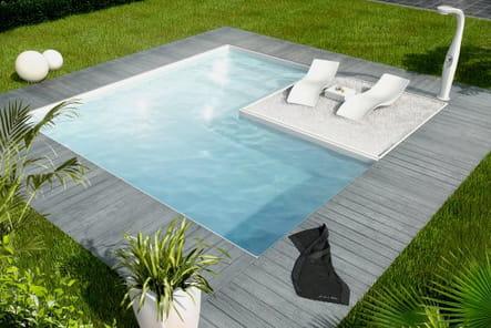 Une piscine cubique très tendance