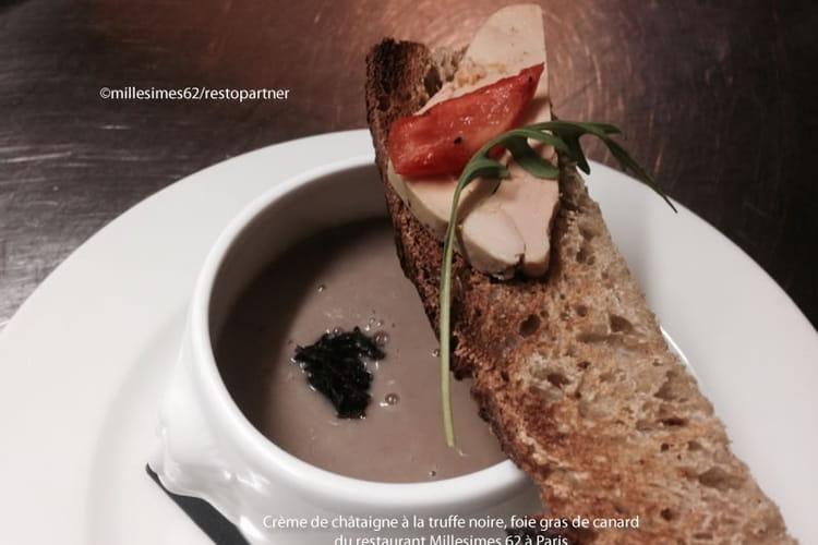 Crème de châtaigne à la truffe noire, foie gras de canard