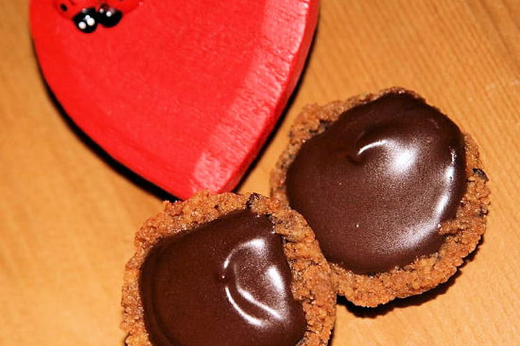 Tartelettes chocolat-praliné de Mamie Julienne