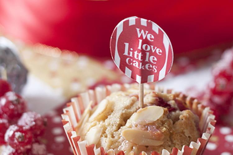 Muffins chocolat blanc framboise groseille