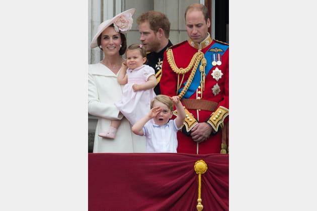En famille, sur le balcon du Palais