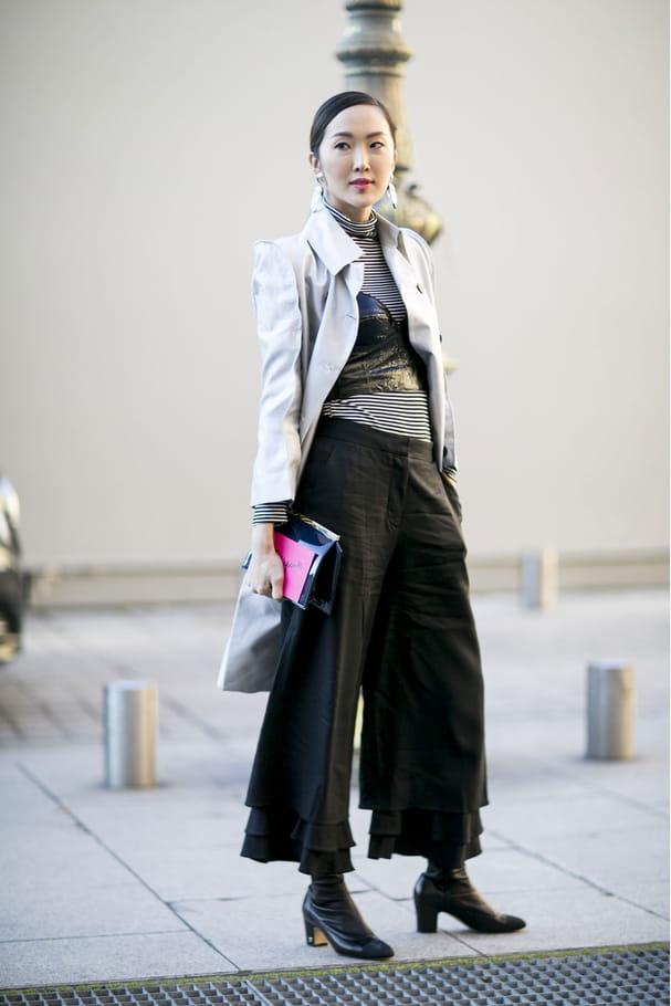 Street style à Paris : la jupe-culotte
