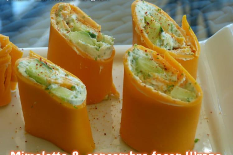 Mimolette et concombre façon Wrap's