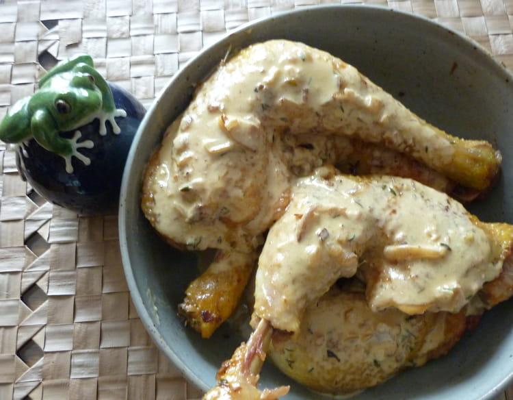 recette de cuisses de poulet la moutarde la recette facile. Black Bedroom Furniture Sets. Home Design Ideas