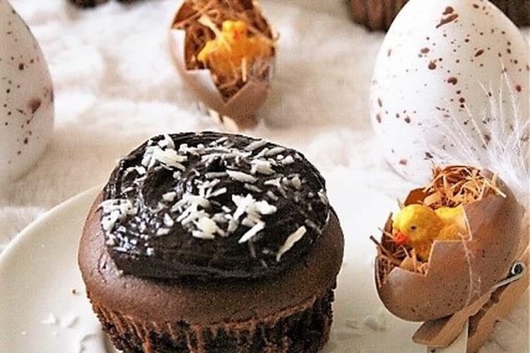 Muffins au chocolat et leur ganache (sans gluten, sans lait, sans œufs)