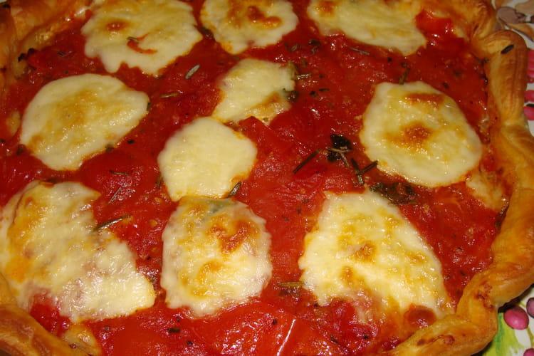 Tarte tomate, comté, jambon de Bayonne