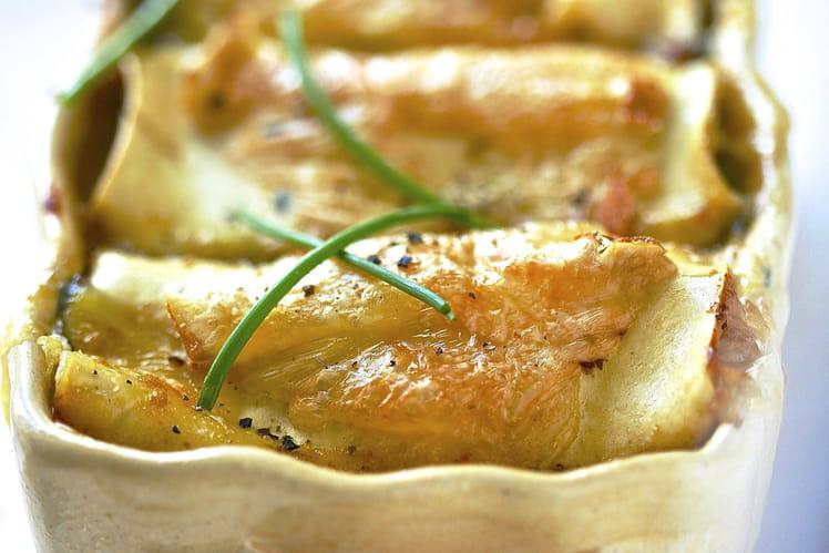 Cannellonis aux épinards et au livarot