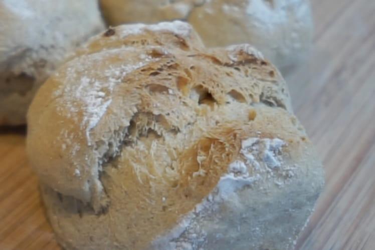 Pain de farine blanche et seigle