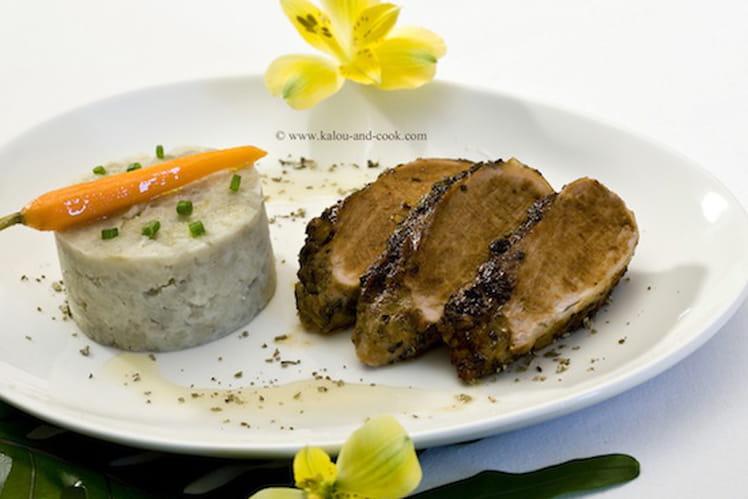 Mignon de porc au sirop d'agave et à la sauge