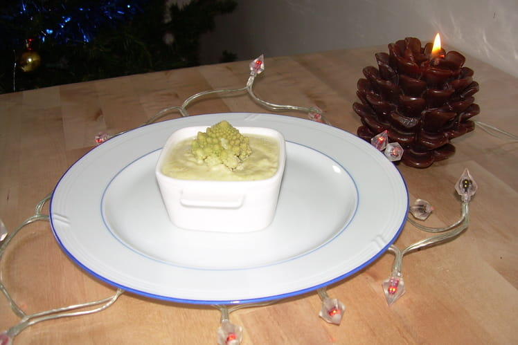 Verrines de Noël au chou romanesco