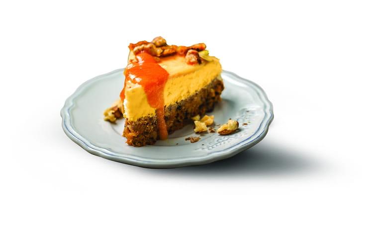 Cheesecake au potimarron croûte quinoa et chocolat