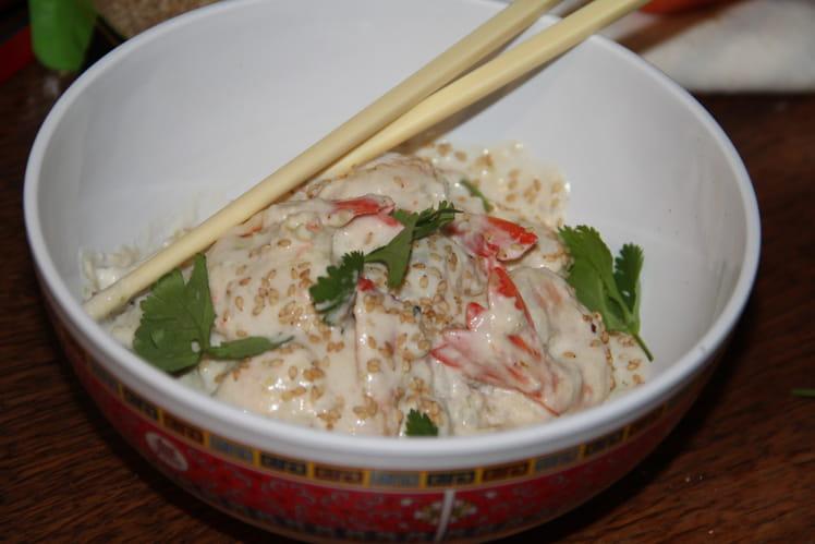 Crevettes au lait de coco et aux épices
