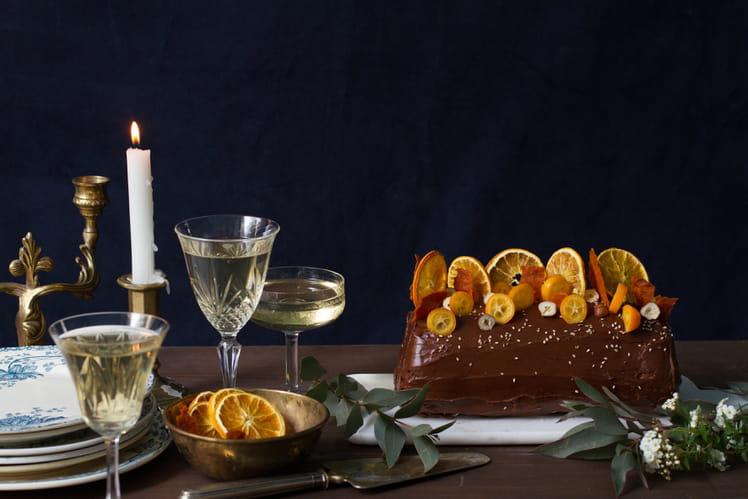 Bûche des Incas au chocolat et noisettes