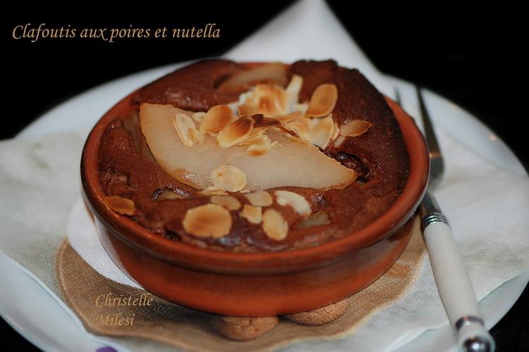 Clafoutis aux poires et nutella