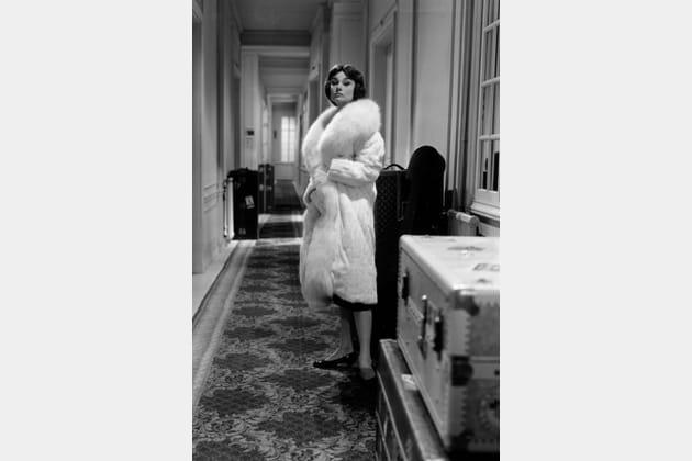 Audrey Hepburn en manteau de fourrure