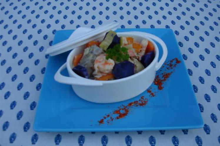 Blanquette de saumonette et petits légumes au piment d'Espelette