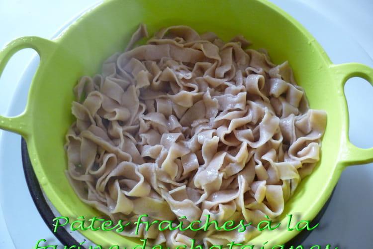 Pâtes fraîches à la farine de châtaignes