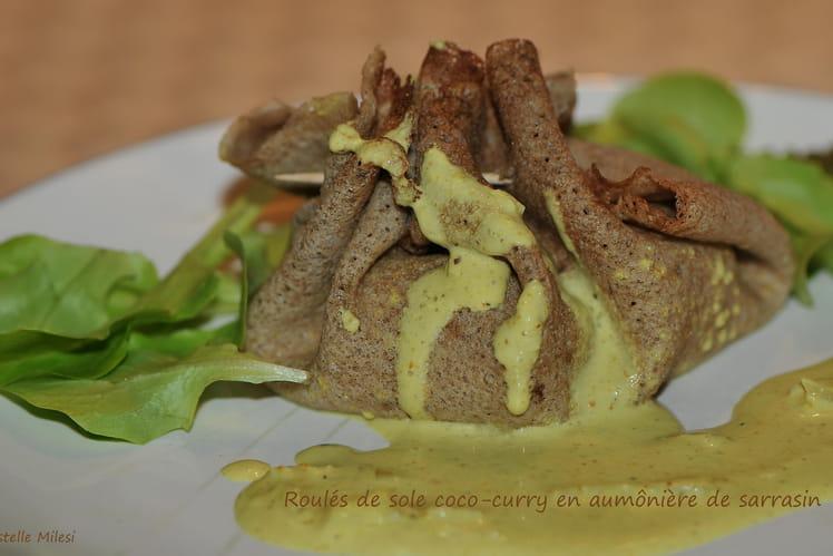 Roulés de sole coco-curry en aumônière de sarrasin