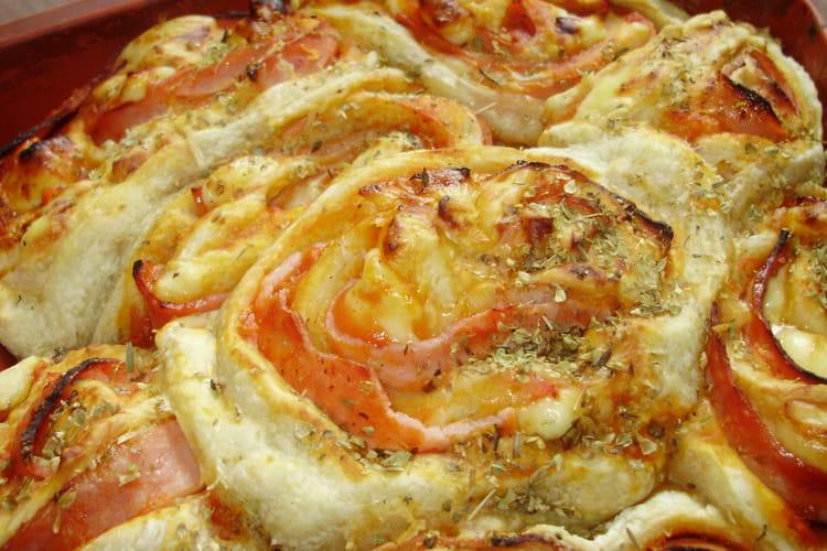 Chinois de pizza comté, chèvre, tomme et origan