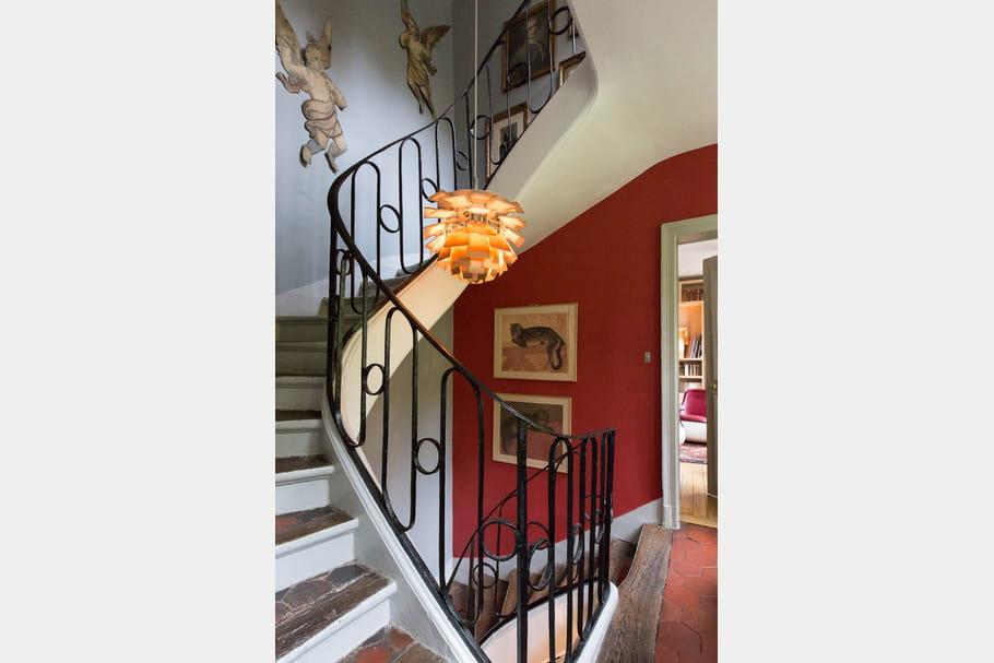 Duo de couleurs dans la cage d 39 escalier for Cage escalier
