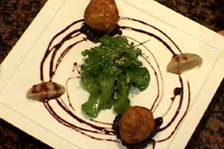 Billes de foie gras au sirop de Banyuls et confit