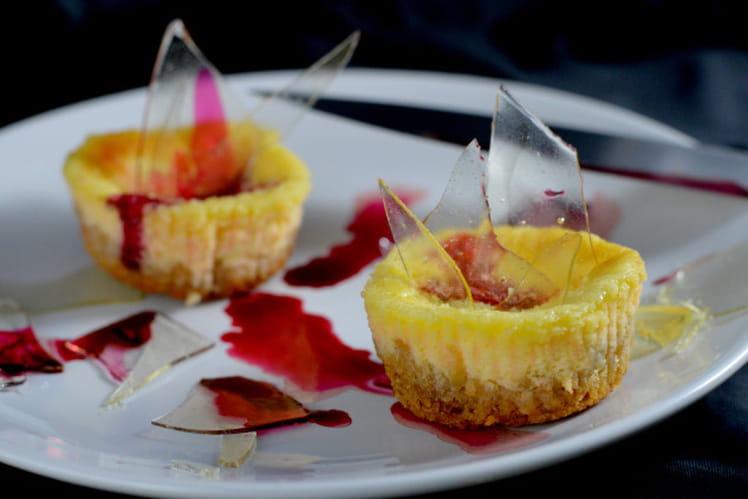 Mini cheesecakes aux éclats de verre