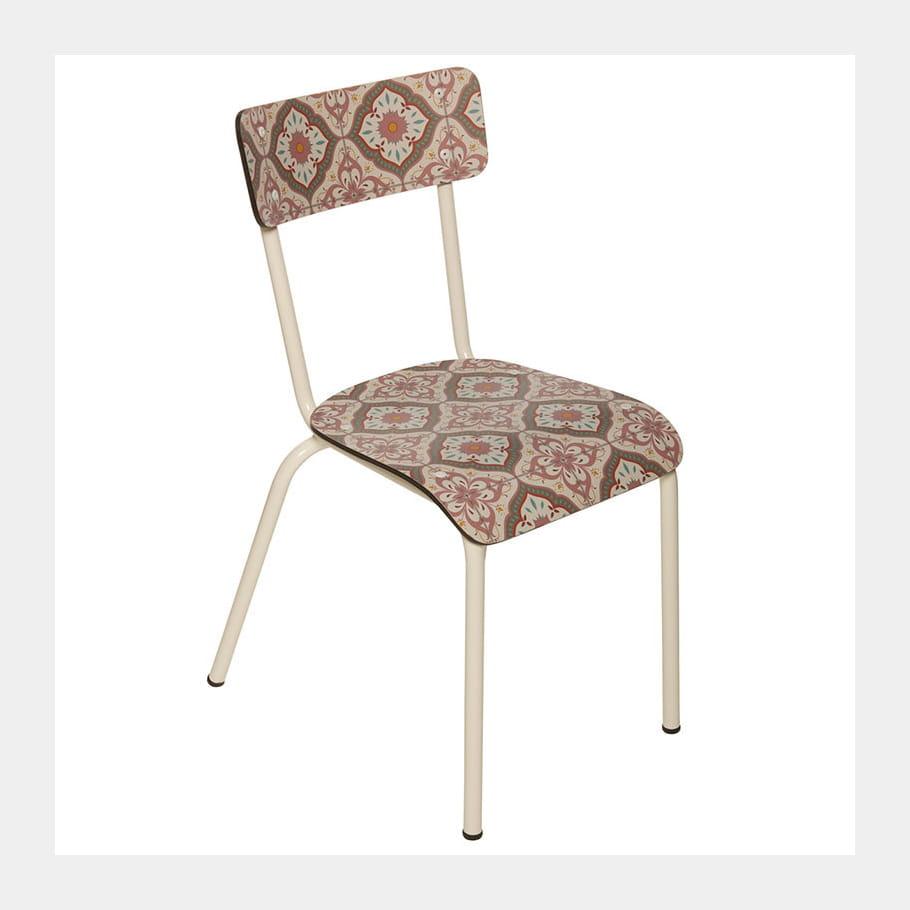 la chaise carreaux de ciment le carreau de ciment se d cline journal des femmes. Black Bedroom Furniture Sets. Home Design Ideas