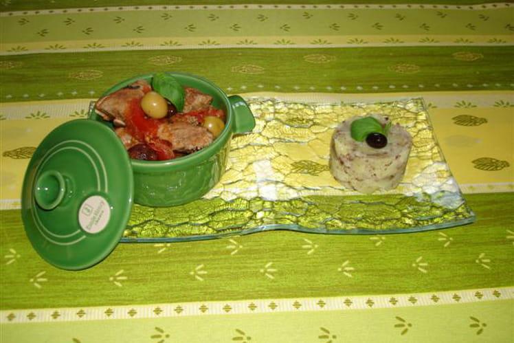 Sauté de veau tomate-Porto et ses pommes de terre