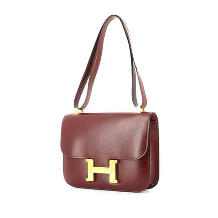 42006aabe6 Sac Constance en cuir box bordeaux, vendu récemment sur Collector Square ©  Collector Square