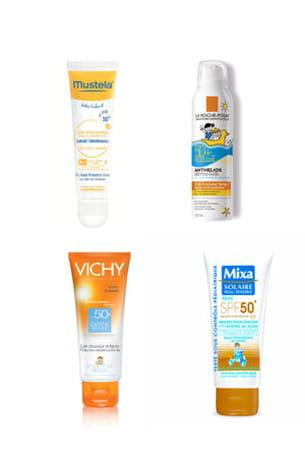 des crèmes solaires pour toute la famille !