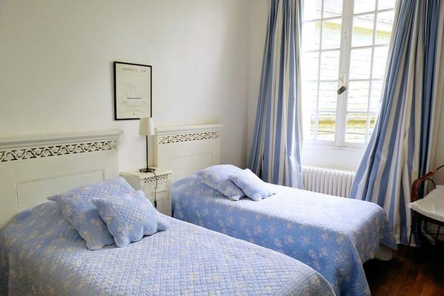 "La chambre ""Twin Bleue"""