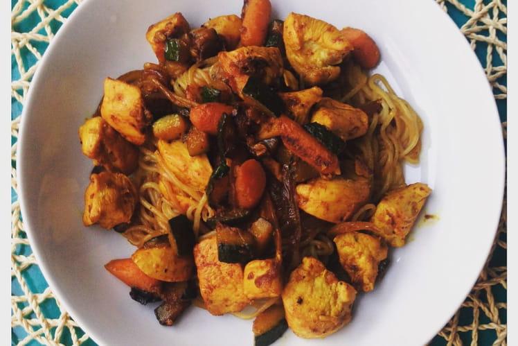 Pâtes de konjac façon wok