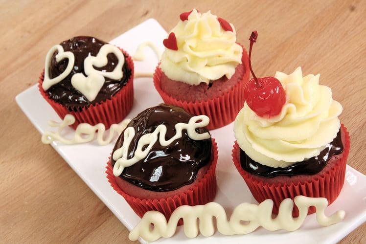Red Velvet Cupcakes plein d'amour