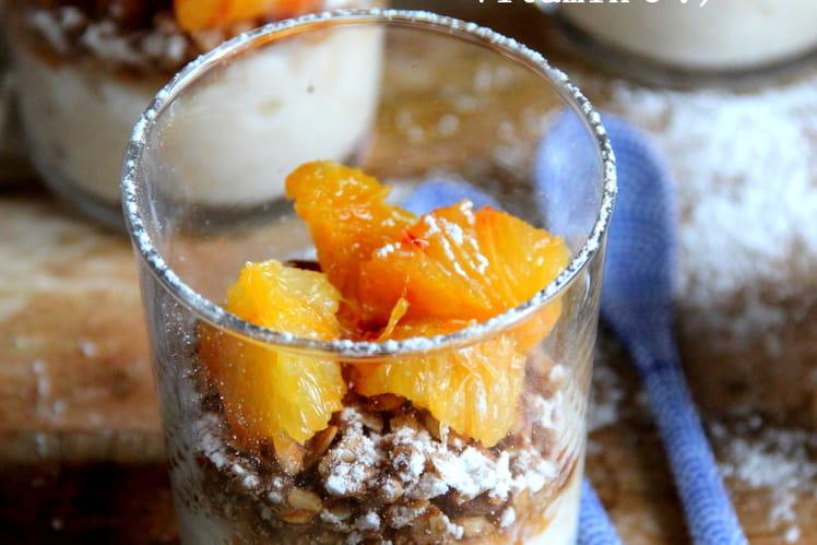 Verrines de riz au lait et oranges sanguines