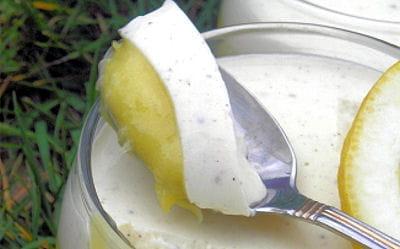 panna cotta vanillée au lemon curd