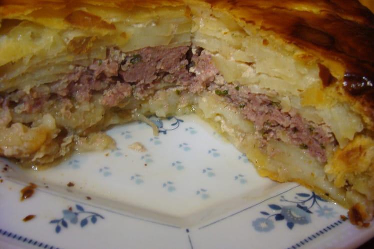 Pâté du Limousin, pommes de terre et viande