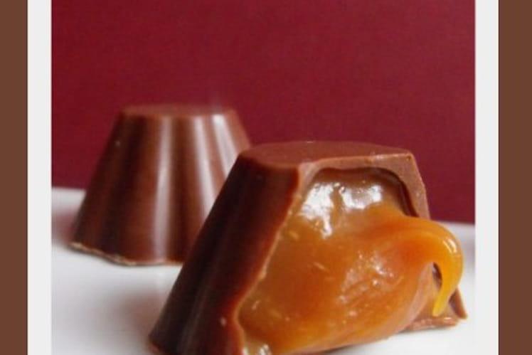 Chocolat coeur caramel au beurre salé