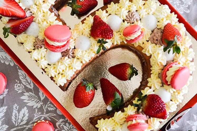 Number Cake Vanille & Fraises