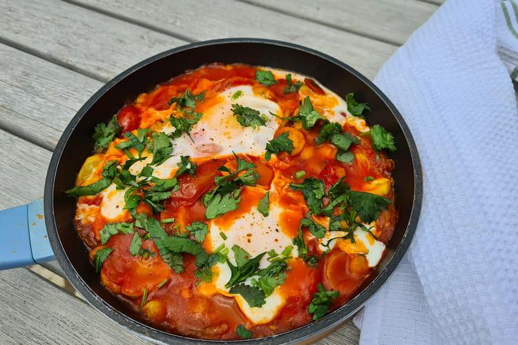 Chakchouka tomates, courgettes et pois chiches