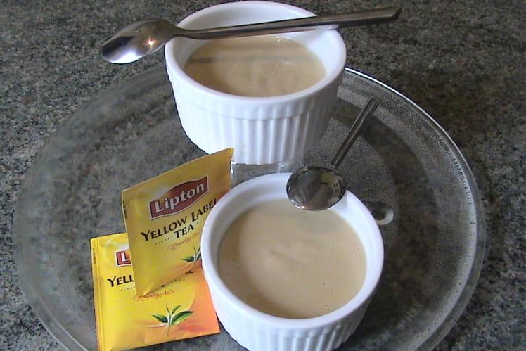Crèmes au thé,  et à l'arôme d'orange