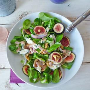 salade de figues, noix et fromage de brebis