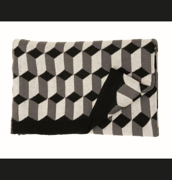 Plaid imprimé Arlequin par Monoprix