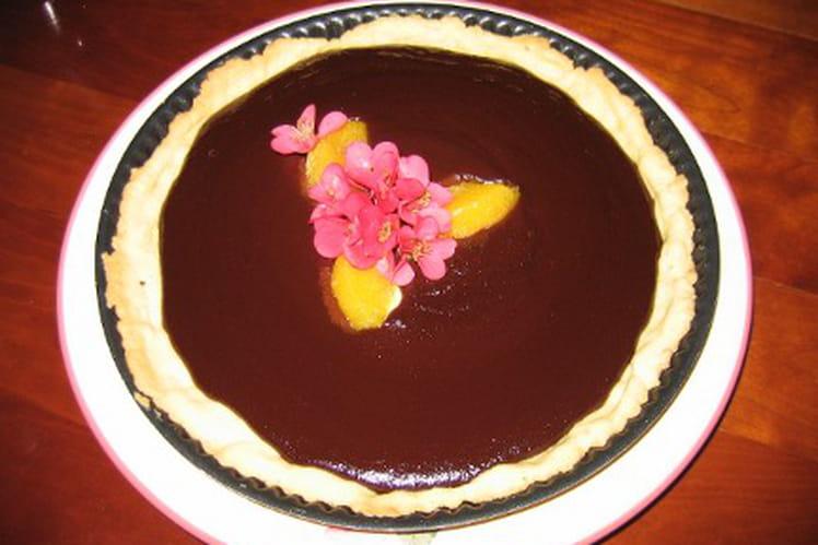 Tarte intense chocolat-orange